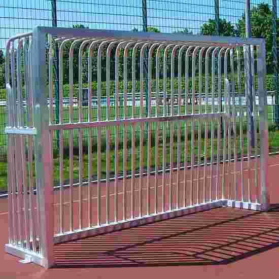 Sport-Thieme Volledig gelast Trapvoetbaldoel Vierkantsprofiel 80x80 mm, 300x200x70 cm