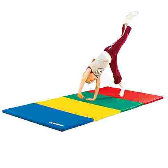 Sport-Thieme Vouwmat 240x120x3 cm, Blauw-geel-groen-rood