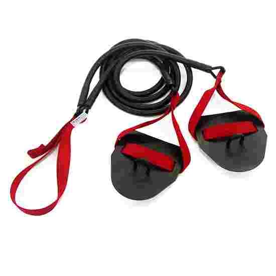 StrechCordz avec paddle de main Rouge, résistance 5,4-14,1 kg