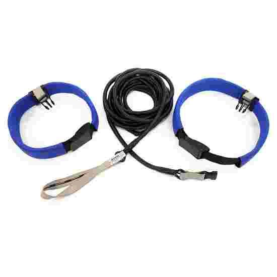 StrechCordz Ceinture d'aqua-gym longue Argent, résistance 1,3-3,6 kg