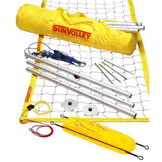 SunVolley Installation de beach-volley « Standard » Avec lignes de délimitation, 9,5 m