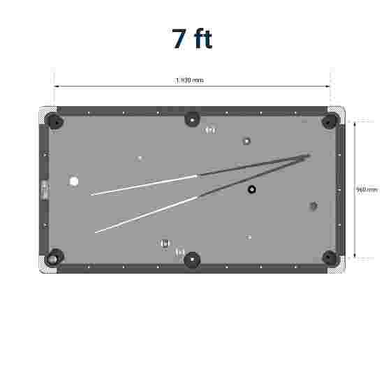Table de billard Automaten Hoffmann « Galant Black Edition » Bleu, 7 ft