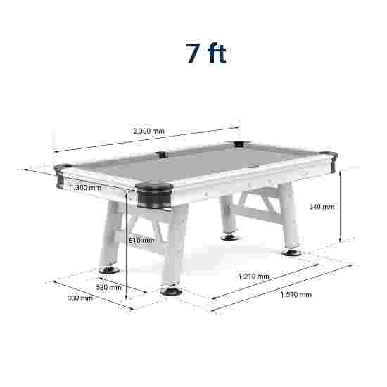Table de billard Sportime Table de pool « Garden Outdoor Alu » 7 ft