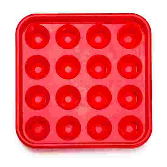 Tablette pour 16 billes de pool Rouge
