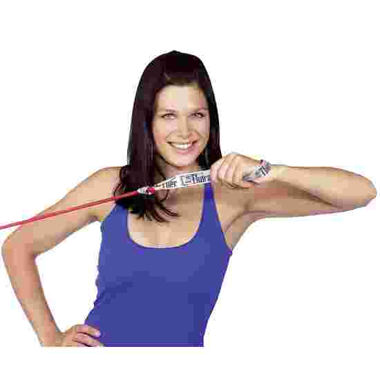 TheraBand Bodytrainer Tubing 1,4 m met handgrepen Rood, medium