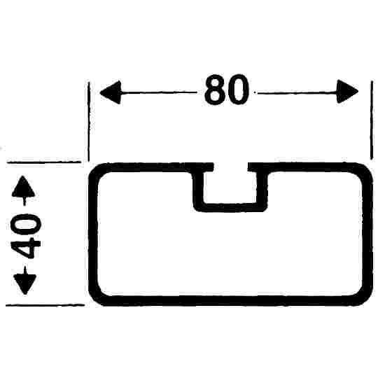Veiligheid verankering systeem Rechthoekig profiel 80x40 mm