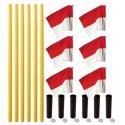 Kit de poteaux de délimitation Sport-Thieme « Allround » Poteau jaune, fanion rouge-blanc