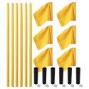 Kit de poteaux de délimitation Sport-Thieme « Allround » Poteau jaune, fanion jaune fluo