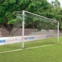 Sport-Thieme But en aluminium, 7,32x2,44 m, coins soudés, avec fixation par fourreaux Rail de fixation de filet