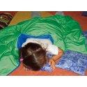 Couverture lourde/lestée Enste 180x90 cm / Vert-Bleu, Enveloppe extérieure Suratec