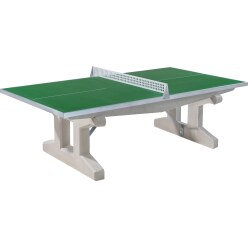 """Sport-Thieme Polymeerbeton tafeltennistafel """"Premium""""   Groen, Korte poot, vrijstaand"""