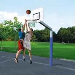 But de basket Sport-Thieme « Fair Play » avec filet en corde Hercules