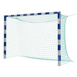 Sport-Thieme But de foot en salle 3x2 m, avec fixation par fourreaux et angles d'assemblage en acier Premium