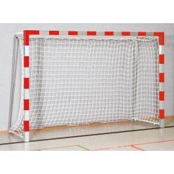 But de handball en salle Sport-Thieme 3x2 m, avec fourreaux Noir-argent, Angles d'assemblage vissés