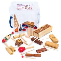 Houten instrumenten-Groepenset