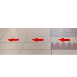 "Tarifold Vloermarkering ""sticker"" Rood, Pijl, 200x10 mm"
