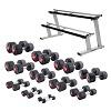 Sport-Thieme Compacte Halters Set  - Rubber, 1-25 kg,  incl. dubbele halterstaander