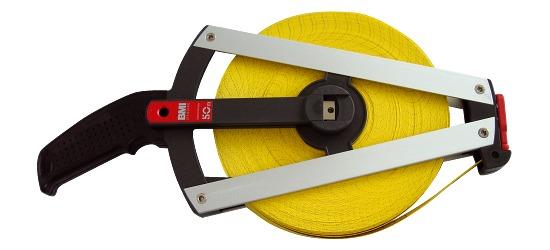 BMI Glasvezel Meetlint, aan één zijde bedrukt 50 m, Frame