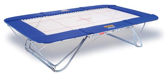 """Eurotramp® trampoline """"Grand Master Exclusiv 6 x 4"""" Met rolstandaard"""