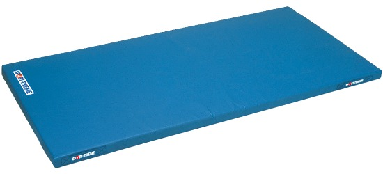 Le tapis de gymnastique léger pour enfants Sport-Thieme, 150x100x6 cm Avec poignées de transport, Bleu