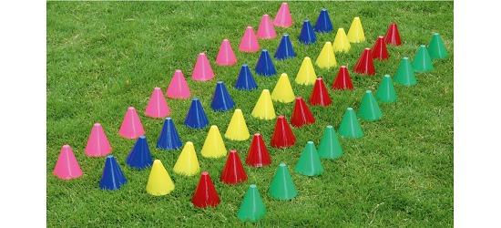 Lot de cônes de signalisation, 7,5 cm