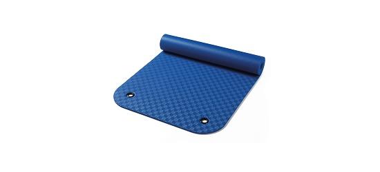 Natte de gymnastique « Confort » Env. 180x65x0,8 cm, Bleu