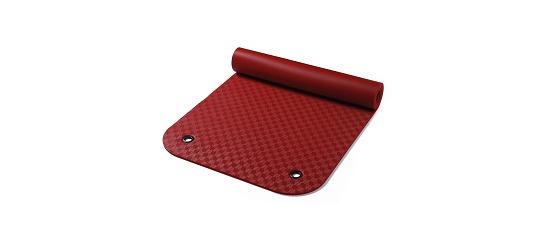 Natte de gymnastique « Confort » Env. 180x65x0,8 cm, Rouge