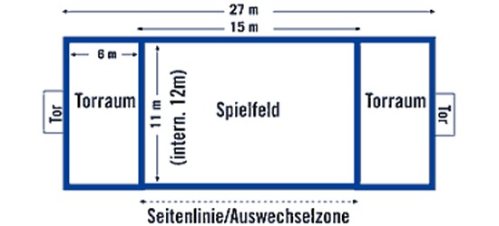 Sport-Thieme® beachhandbal-speelveldafbakening FUN, 27x12 m/25mm