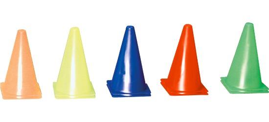 Sport-Thieme Lot de 10 cônes de signalisation Sport-Thieme 13x13x23 cm