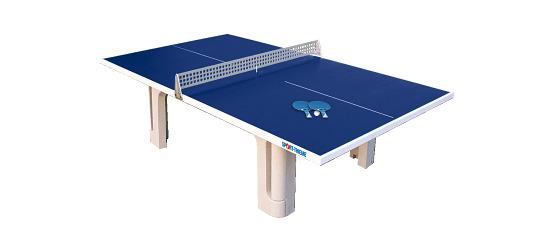 "Sport-Thieme® tafeltennistafel ""Profi"" van polymeerbeton  Blauw"