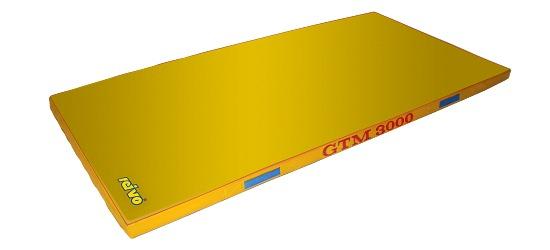 Sport-Thieme Tapis de sortie d'appareil « GTM 3000 » 200x100x6 cm, 17 kg, Jaune