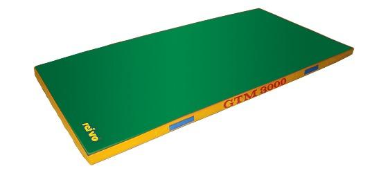 Sport-Thieme Tapis de sortie d'appareil « GTM 3000 » 200x100x6 cm, 17 kg, Vert