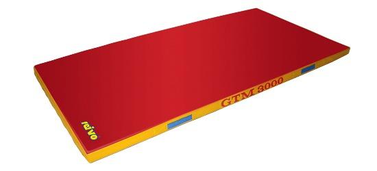 Sport-Thieme Tapis de sortie d'appareil « GTM 3000 » 200x100x6 cm, 17 kg, Rouge