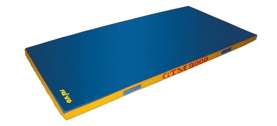 Sport-Thieme Tapis de sortie d'appareil « GTM 3000 » 200x100x8 cm, 22 kg, Bleu