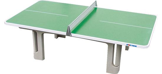 Table Sport-Thieme® en béton polymère « Champion » Vert