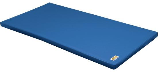 Tapis de gymnastique combinable Reivo® « Sécurité » Polygrip bleu, 200x100x8 cm