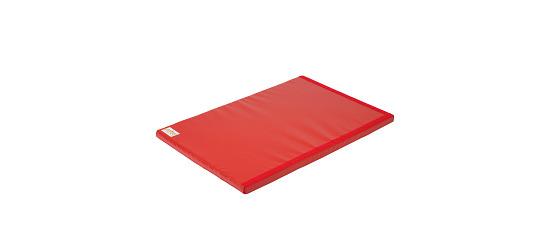Tapis de gymnastique combinable Reivo® « Sécurité » Polygrip rouge, 150x100x6 cm