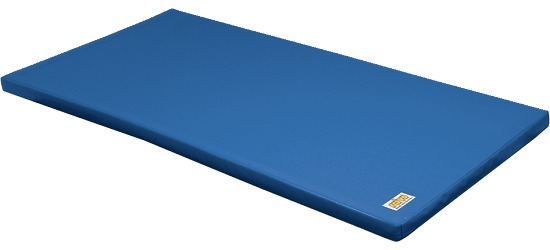 Tapis de gymnastique combinable Reivo® « Sécurité » Tissu de tapis de gymnastique bleu, 150x100x6 cm