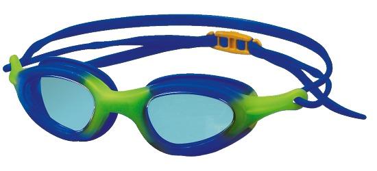 """Zwembril """"Top"""" Blauw/limoen: kinderen/jeugd"""