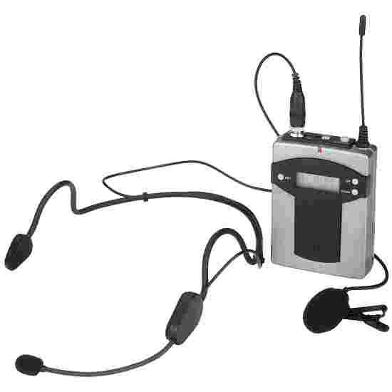 Émetteur de poche Monacor avec 2 microphones