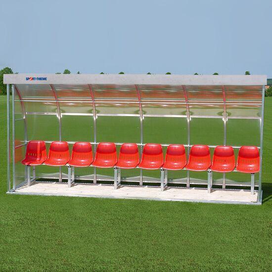 Abri de touche Sport-Thieme® pour 10 personnes Banc, Plexiglas