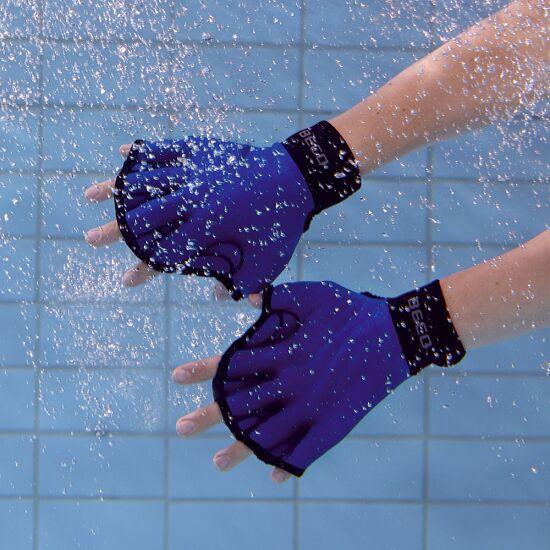 Aqua-fitness Handschoenen, open S, turkoois