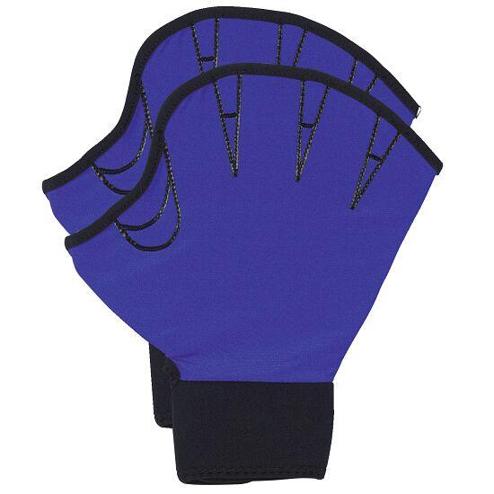 Aqua-fitness Handschoenen, open L, blauw