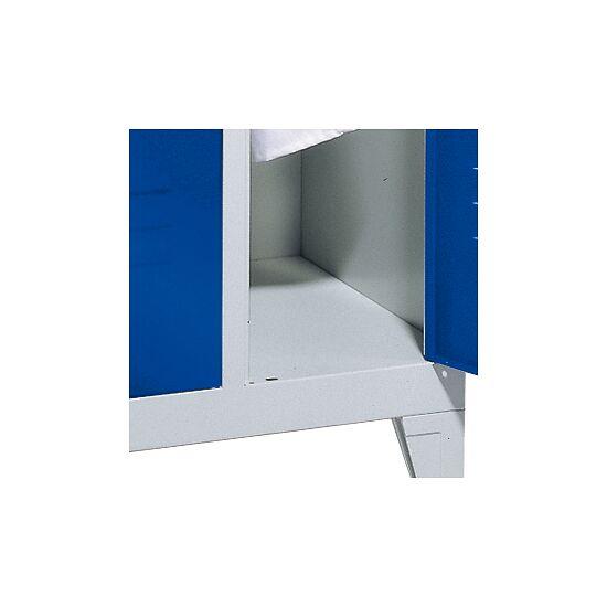 Armoire vestiaire double « S 2000 Classic » avec pieds 150 mm 185x61x50 cm / 4 casiers, 30 cm