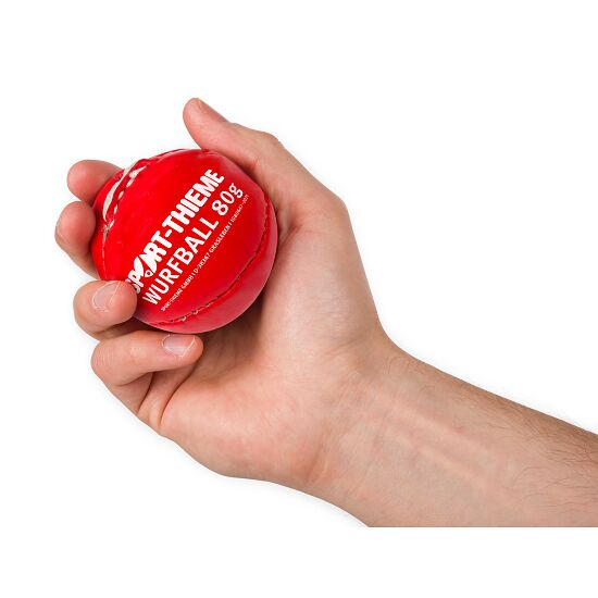 Balle de lancer Sport-Thieme 80 g Rouge