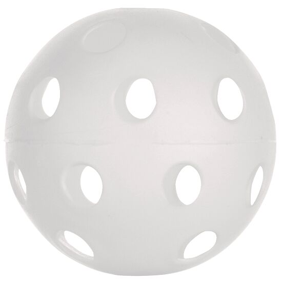 Balle d'unihockey Blanc