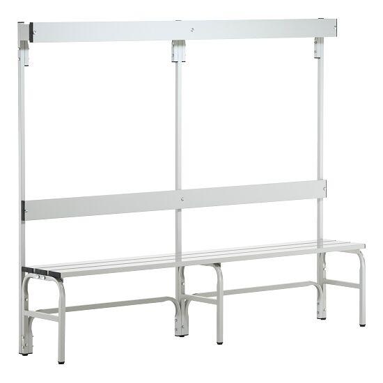 Banc de vestiaire Sypro Wolf® pour espaces mouillés avec dossier 1,50 m, Sans grille à chaussures