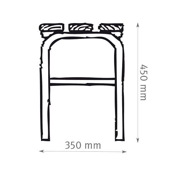 Banc de vestiaire Sypro Wolf® pour espaces mouillés sans dossier 1,01 m, Sans grille à chaussures