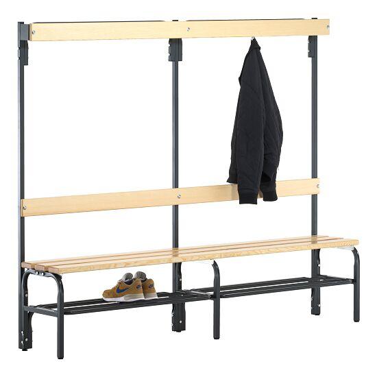 Banc de vestiaire Sypro Wolf® pour espaces secs avec dossier 1,50 m, Avec grille à chaussures