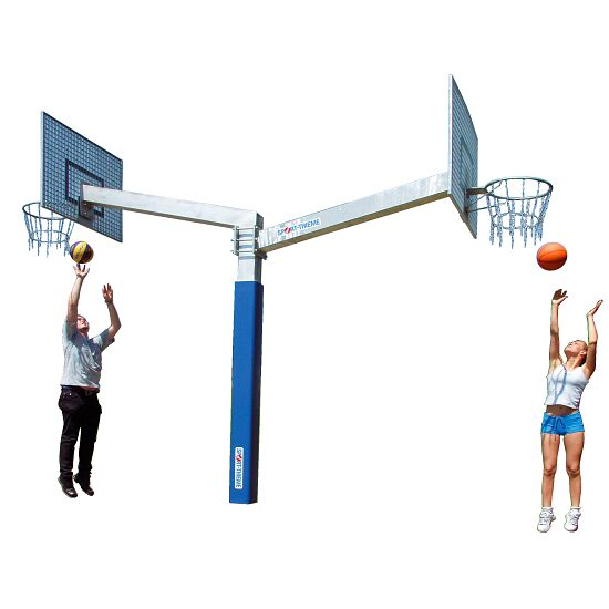 But de basket Sport-Thieme® « Fair Play Duo » Panier « Outdoor », Panneau : aluminium